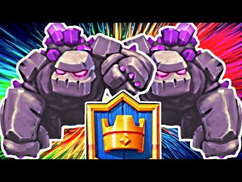 BIG BAD GOLEM, NIGHT WITCH! - Clash Royale