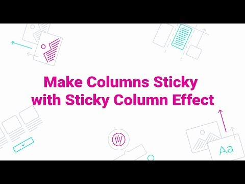 JetTricks. How to Make Columns Sticky with Sticky Column Effect