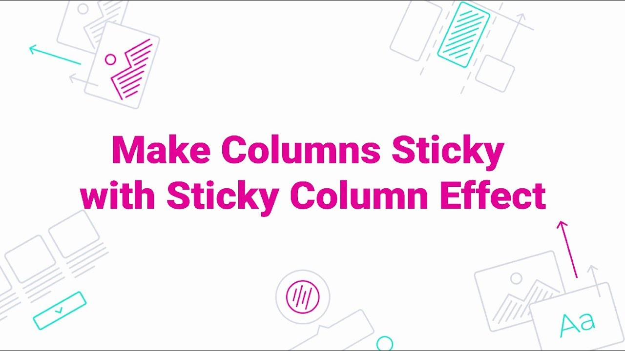 JetTricks  How to Make Columns Sticky with Sticky Column Effect