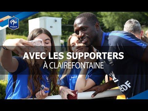 Les Bleus parmi 500 supporters à Clairefontaine