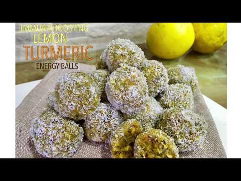 Healthy Immune Boosting Lemon Turmeric Energy Balls | Energy Bites | Superfood | Easy Recipe