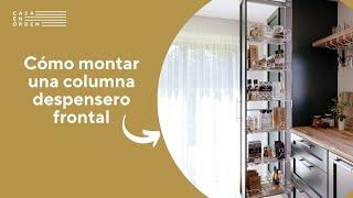 Cómo montar una columna despensero frontal con cestas de melamina para mueble de cocina paso a paso