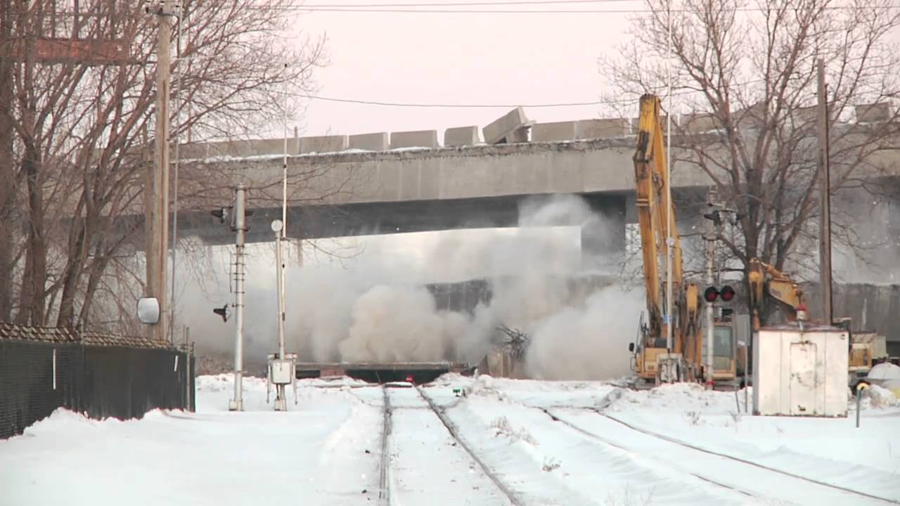 Cline Avenue Bridge Demolition  YouTube