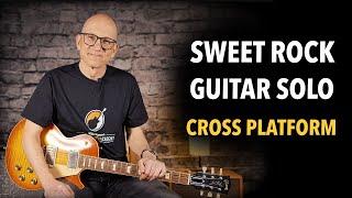 A sweet rock guitar solo - improvisation over a track called Cross Platform