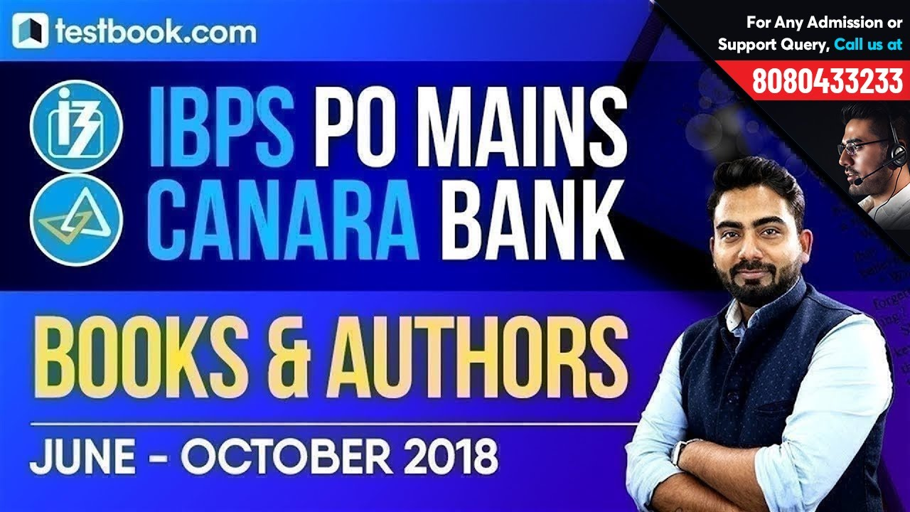 IBPS PO | Canara Bank | Important Books & Authors | June - October 2018 | Learn with Abhijeet Si