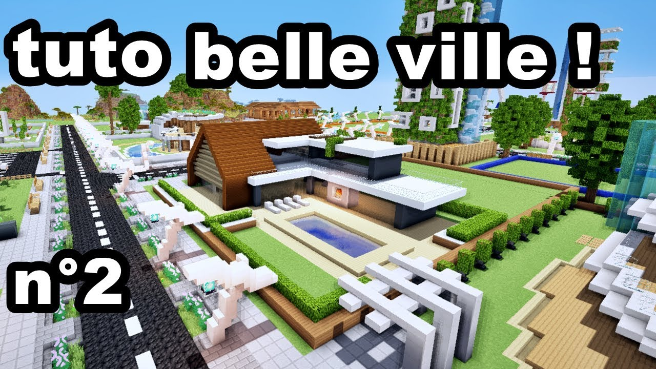 comment faire une belle ville sur minecraft tuto youtube. Black Bedroom Furniture Sets. Home Design Ideas