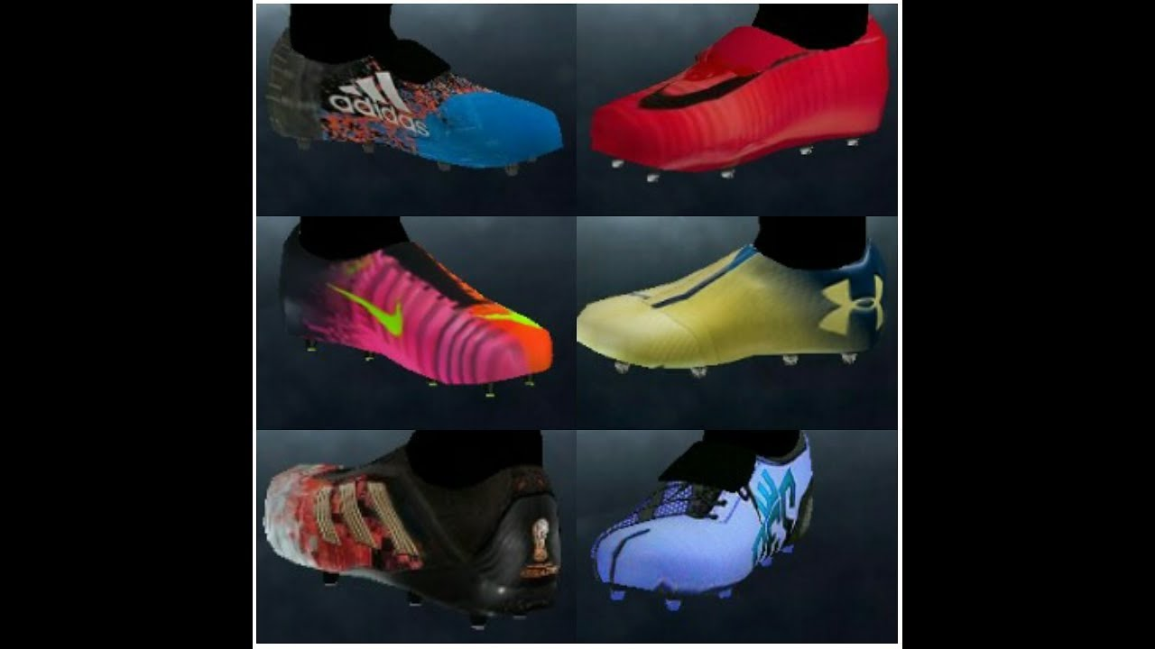 7de0d8134f3 55 boots in Bootpack ppsspp pes PSP ps2 download textures - YouTube