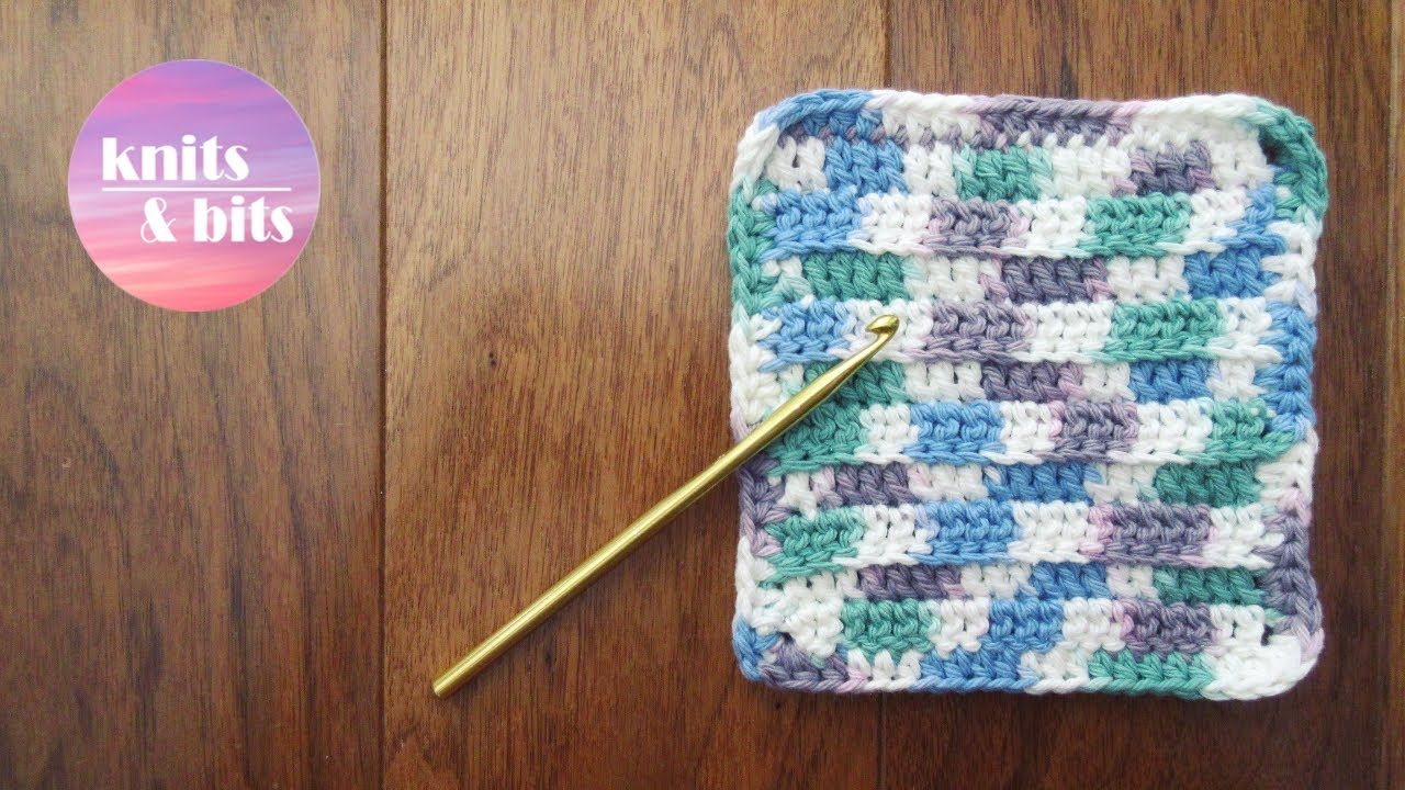 Crochet A Cute Dishcloth Quick And Easy Tutorial Youtube
