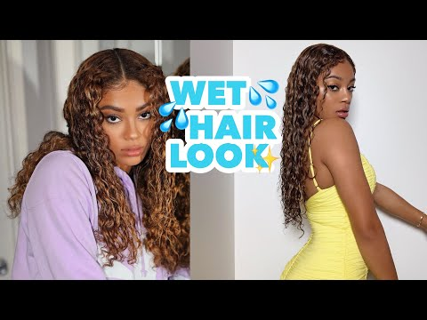 How to keep naturally curly hair looking wet