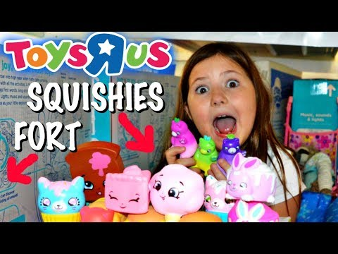 SQUISHIES AT TOYS R US!!YAY! & HIDING IN A FORT! OMG! ~ SHOPKINS SQUISHIES!