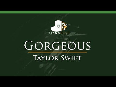 Taylor Swift - Gorgeous - LOWER Key (Piano Karaoke / Sing Along)