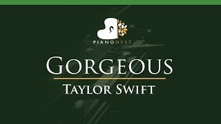 Taylor Swift - Gorgeous - LOWER Key (Piano Karaoke / Sing Along)