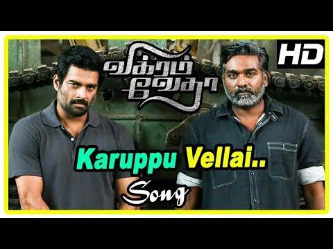 Vikram Vedha Movie Scenes | Karuppu Vellai Song | Madhavan Finds The Traitor | Vijay Sethupathi