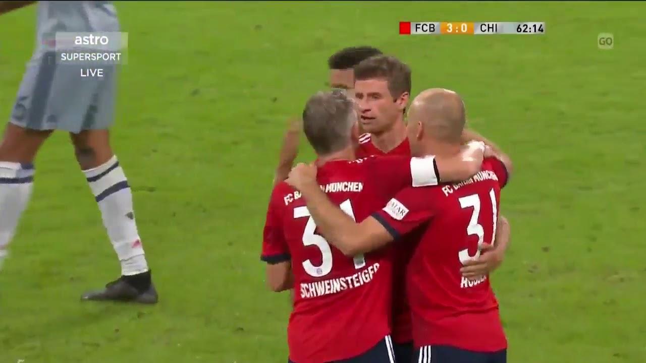 Download Bayern Munich 4-0 Chicago Fire | Bastian Schweinsteiger Testimonial Match 28 August 2018