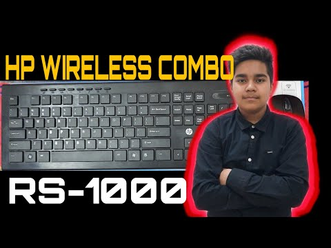 HP Multimedia Wireless Keyboard&Mouse Unboxing And Small Review||How To Use It??|||Full Test