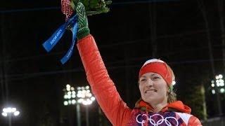 Дарья Домрачева стала первой в мире биатлонисткой, взявшей три золота на одних Олимпийских играх