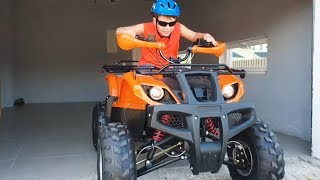 ALİNİN YENİ ATV , kid ride on power wheels