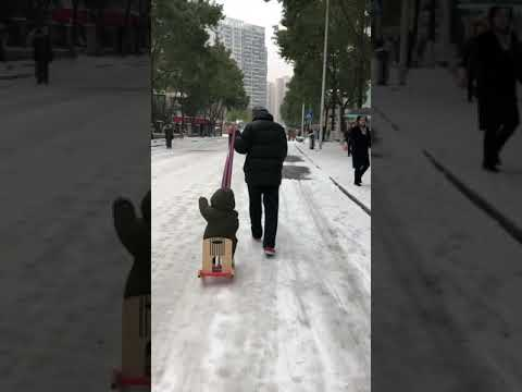 Snowing in wuhan China