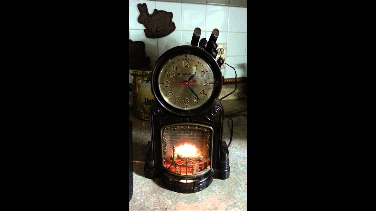 Vintage Mastercrafters Fireplace Motion Novelty Clock #272 - YouTube