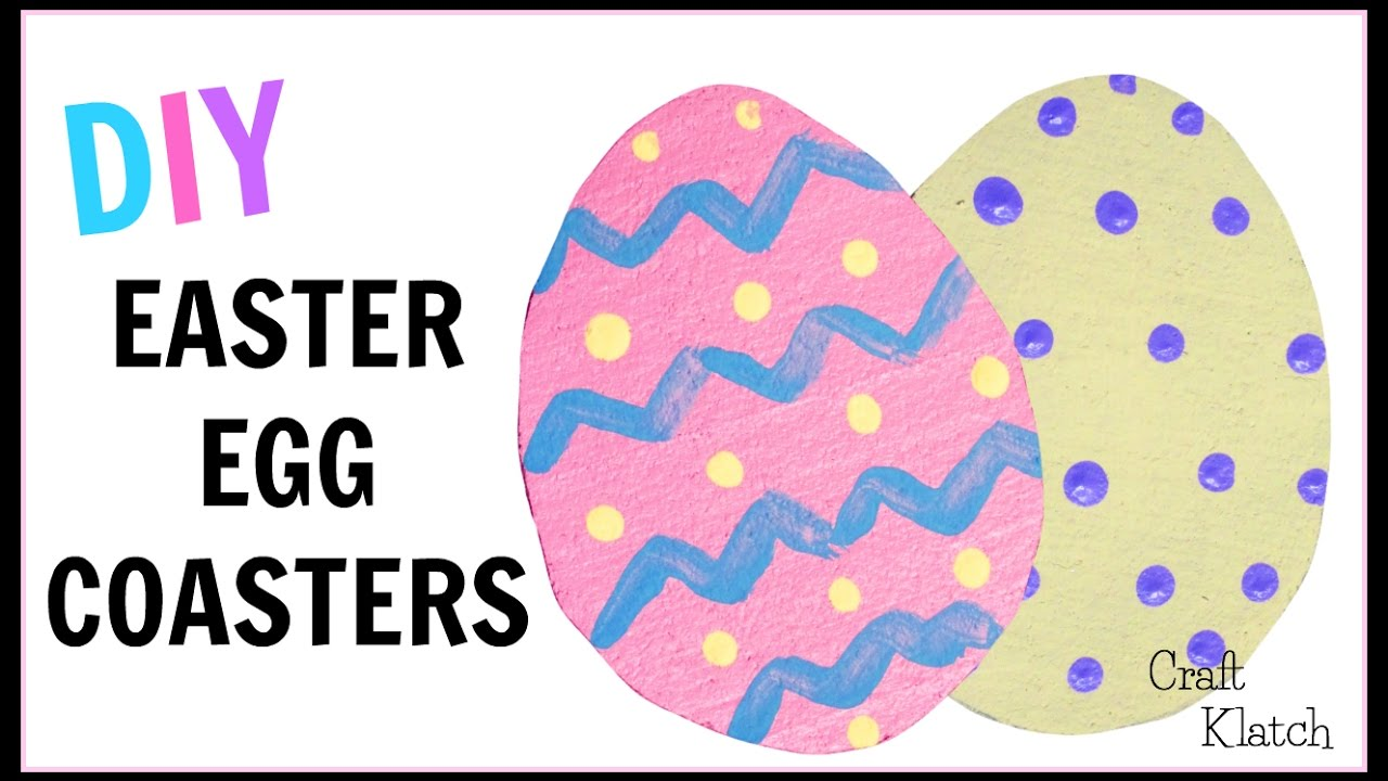 How To Make Easy Easter Egg Coasters | DIY Projects | Kids Crafts | Craft  Klatch | Another Coaster F