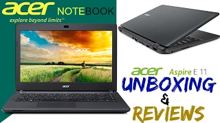 Acer Aspire ES 11 | ES1-131 Notebook Unboxing and Review | 500 GB HDD | dual core processor