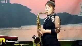 장선희색소폰~우중의여인(오기택)