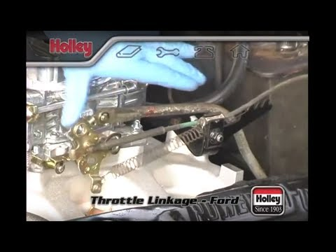 Attaching Ford Throttle Linkage To A Holley Carb Youtube