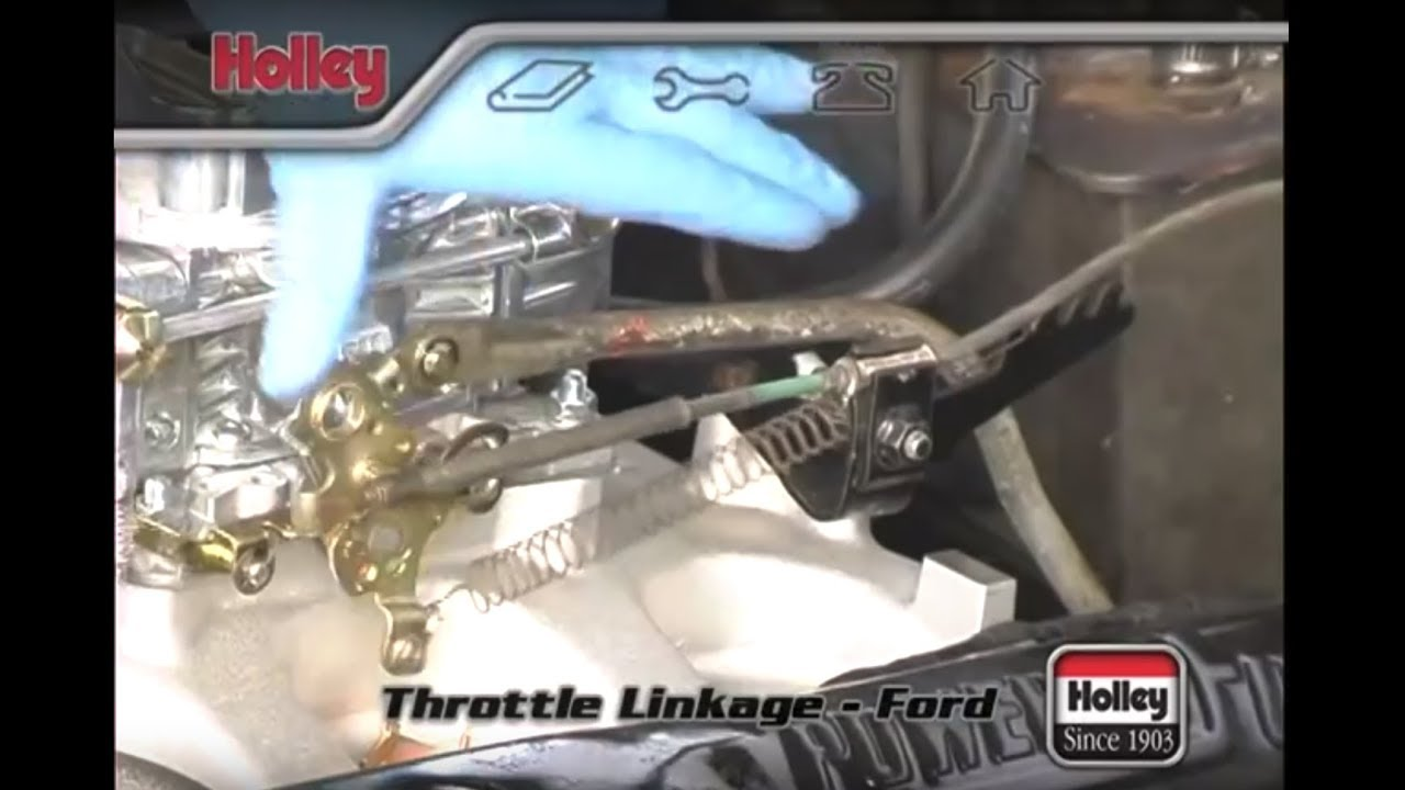 attaching ford throttle linkage to a holley carb [ 1280 x 720 Pixel ]
