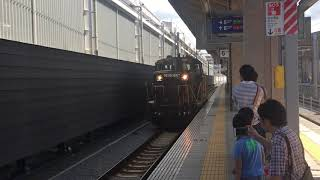 国鉄DE10形ディーゼル機関車 熊本駅を発車 JR九州 鹿児島本線 2017年7月2日