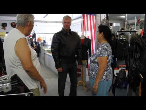 Hollywod actor Vladimir Kulich in San Diego Leather Inc Getting Fitted for Jacket