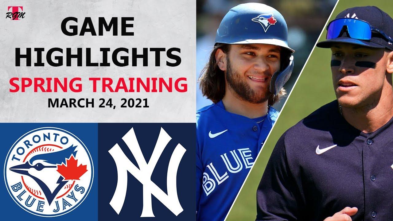 Toronto Blue Jays vs. New York Yankees Highlights   March 24, 2021 (Spring Training)