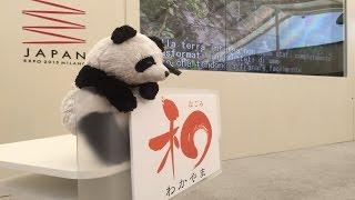 Milano expo japan 和歌山県の日 世界農業遺産申請を PR。