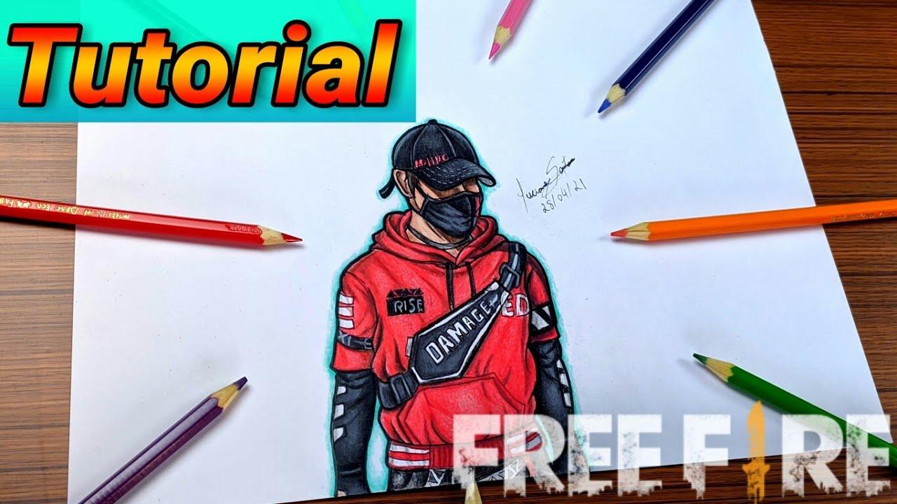 COMO DESENHAR A SKIN CORAÇÃO URBANO FREE FIRE - Como dibujar free fire // Gambar Free Fire