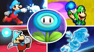 Evolution of Ice Flowers in Mario Games (2005 - 2018)