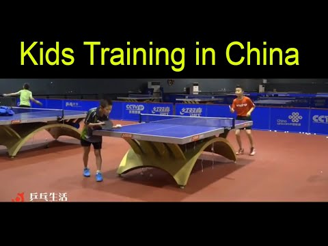 Table Tennis Training's Kids of China