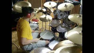 styx blue collar man drum cover by jd