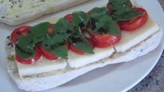 Caprese Salad Sandwich - How To