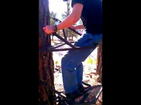 Custom made steel tree stand
