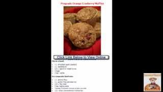 Easy Recipes Orange Cranberry Muffins