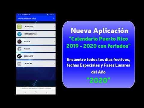 Calendario Puerto Rico 2019 2020 Youtube