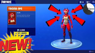 "*NEW* ""TRICERA OPS"" DINO SKIN! - Fortnite Item Shop 4/19/18"