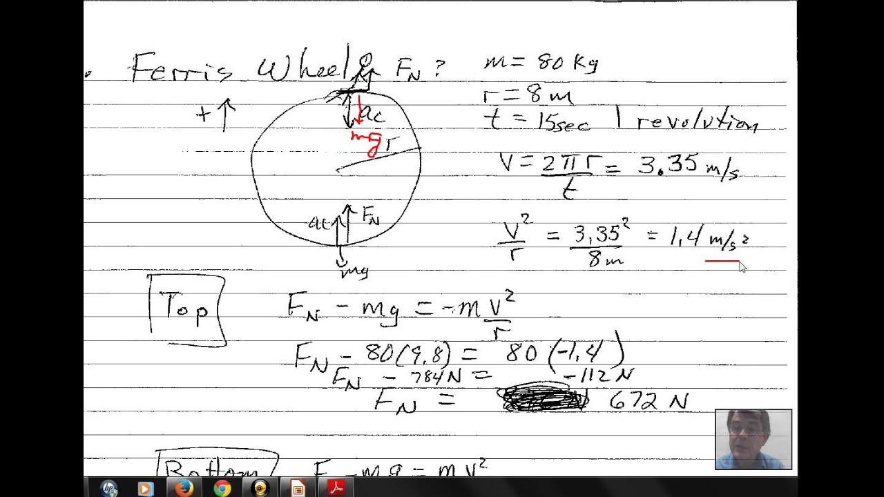 Centripetal Force Ferris Wheel Youtube