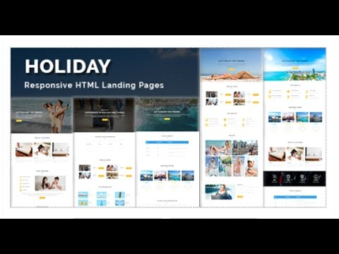 HOLIDAY - Multipurpose Responsive HTML Landing Page Themeforest