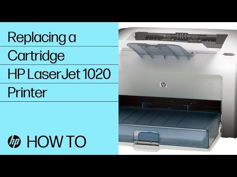 Replacing a Cartridge - HP LaserJet 1020 Printer
