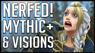 EVEN MORE NERFS! Mythic+ And Horrific Vision Changes   WoW BfA Patch 8.3