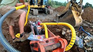 Excavator hydraulic hose protection | How to Install and Protect Hydraulic Lines