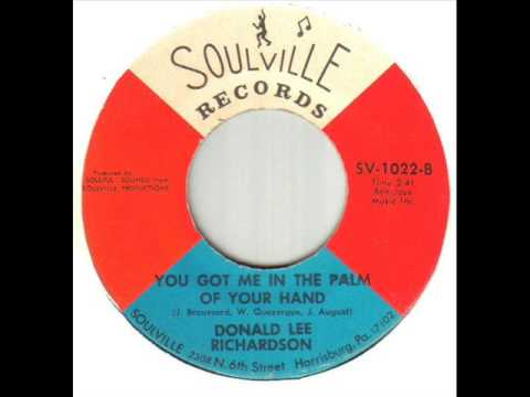 Donald Lee Richardson You Got Me In The Palm Of Your Hand