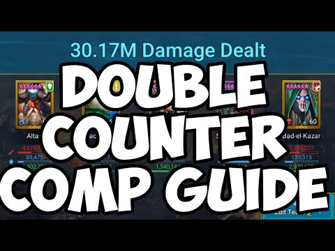 Raid Shadow Legends - Double Counter Comp Guide - 30M Per Key On Auto!!