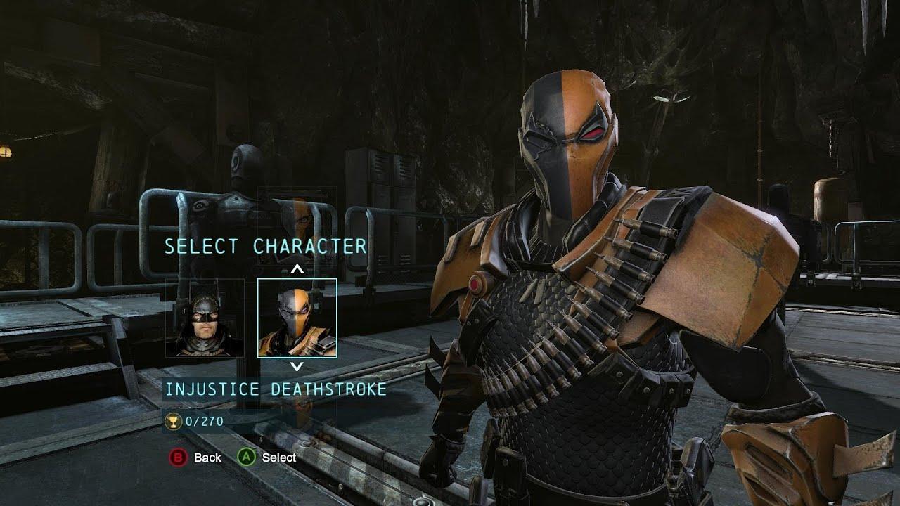 Batman Arkham Origins Injustice Deathstroke Costume DLC Gameplay