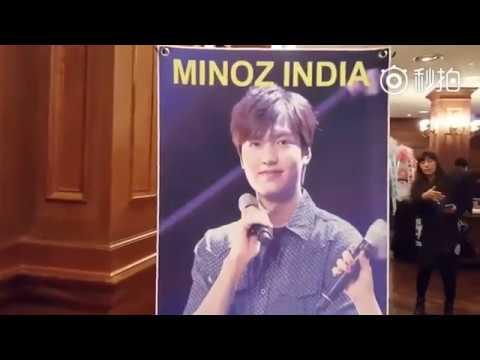 LeeMinHo - Minoz India Support to Legend Of The Blue Sea 14.11.2016